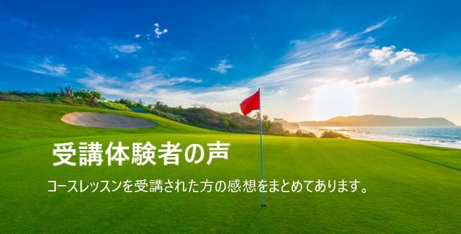 ゴルフコースレッスン体験者の声